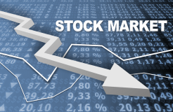 सेंसेक्स 807 अंक नीचे , शेयर बाजारों में भारी गिरावट