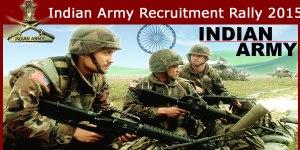 सेना में भर्ती रैली का आयोजन  21 से 28 जुलाई तक