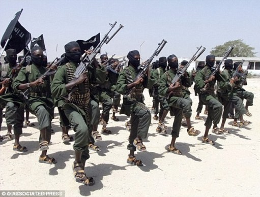 Militants  Somali terror group Al-Shabaab (pictured) has targeted Christians travelling in buses in the north Kenya region in recent years