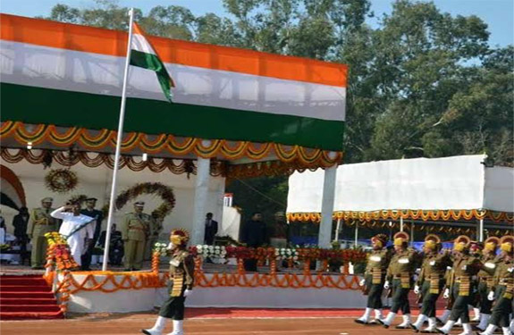 Murmu Jharkhand' women governor flag on Republic Day