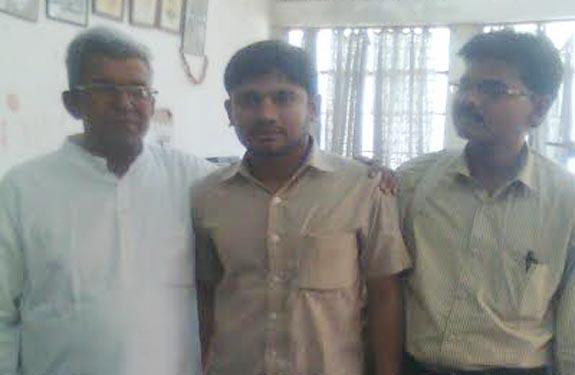Rihai Manch president met Kanhaiya Kumar at jnu new delhi