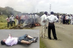 खंडवा सड़क हादसा: बाइक में लगी आग एक की मौत
