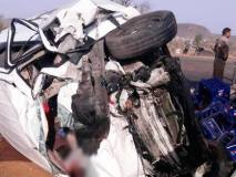 मप्र : कार और कंटेनर की टक्कर में 7 लोगों की मौत