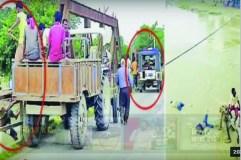 बिहार : पुल से शवों को फेंकने का पुलिस का वीडियो वायरल