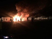 हनुवंतिया जल महोत्सव : शुभारंभ के दो घंटे बाद ही गई टेंटो में आग