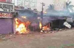 नवादा में भड़की सांप्रदायिक हिंसा, तोड़फोड़ आगजनी
