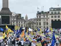 लंदन में खालिस्तान और भारत समर्थकों के बीच हिंसा