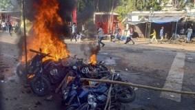 जबलपुर : मूर्ति विसर्जन को लेकर हिंसा, आगजनी