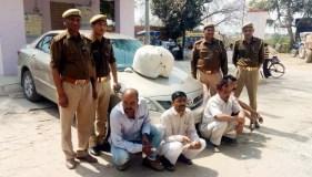 बीस किलो गांजा व अवैध असलहों के साथ चार तस्कर गिरफ्तार