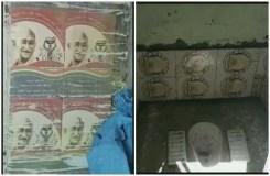 UP : शौचालयों की दीवारों पर लगा दी महात्मा गांधी की तस्वीर