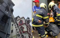 मुंबई: ताज महल होटेल के पास इमारत में लगी आग