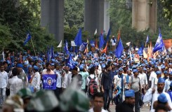 भीम आर्मी ने दी भारत बंद करने की चेतावनी, मंदिर नहीं बना तो होगा बड़ा आंदोलन