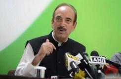 कश्मीर में सब ठीक तो राजनेता नजरबंद क्यों : आजाद