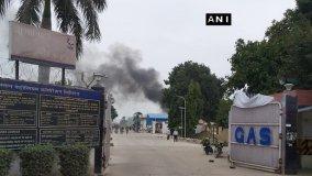 उन्नाव: हिंदुस्तान पेट्रोलियम के प्लांट में गैस टैंक फटा