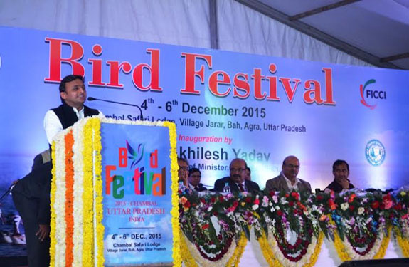 UP CM Akhilesh inaugurates first International Bird Festival in Agra
