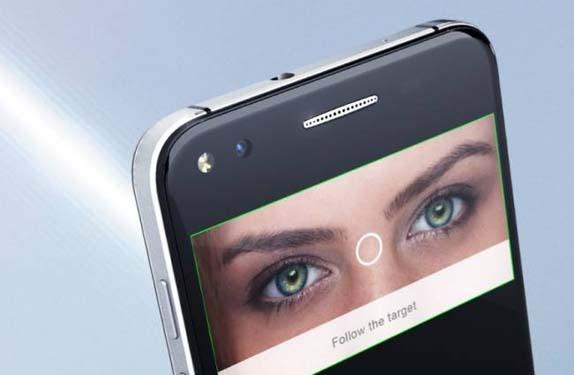 smartphone in eyes