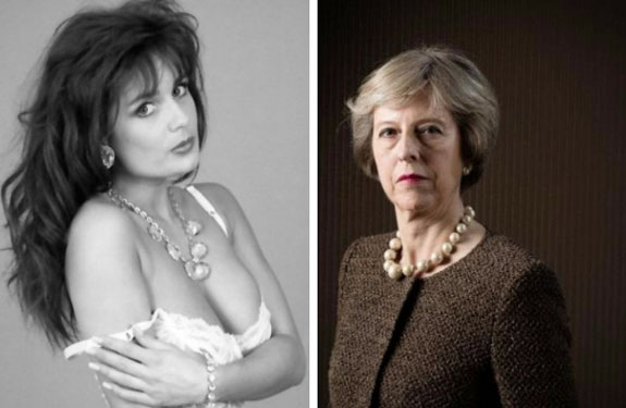 Underwear model Teresa May mistaken for U.K.'s prime minister-designate - Trending