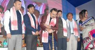 Minister for Transport, Industries & Commerce, CM Patowary lays foundation stone of Inter State Bus Terminus at Tezpur