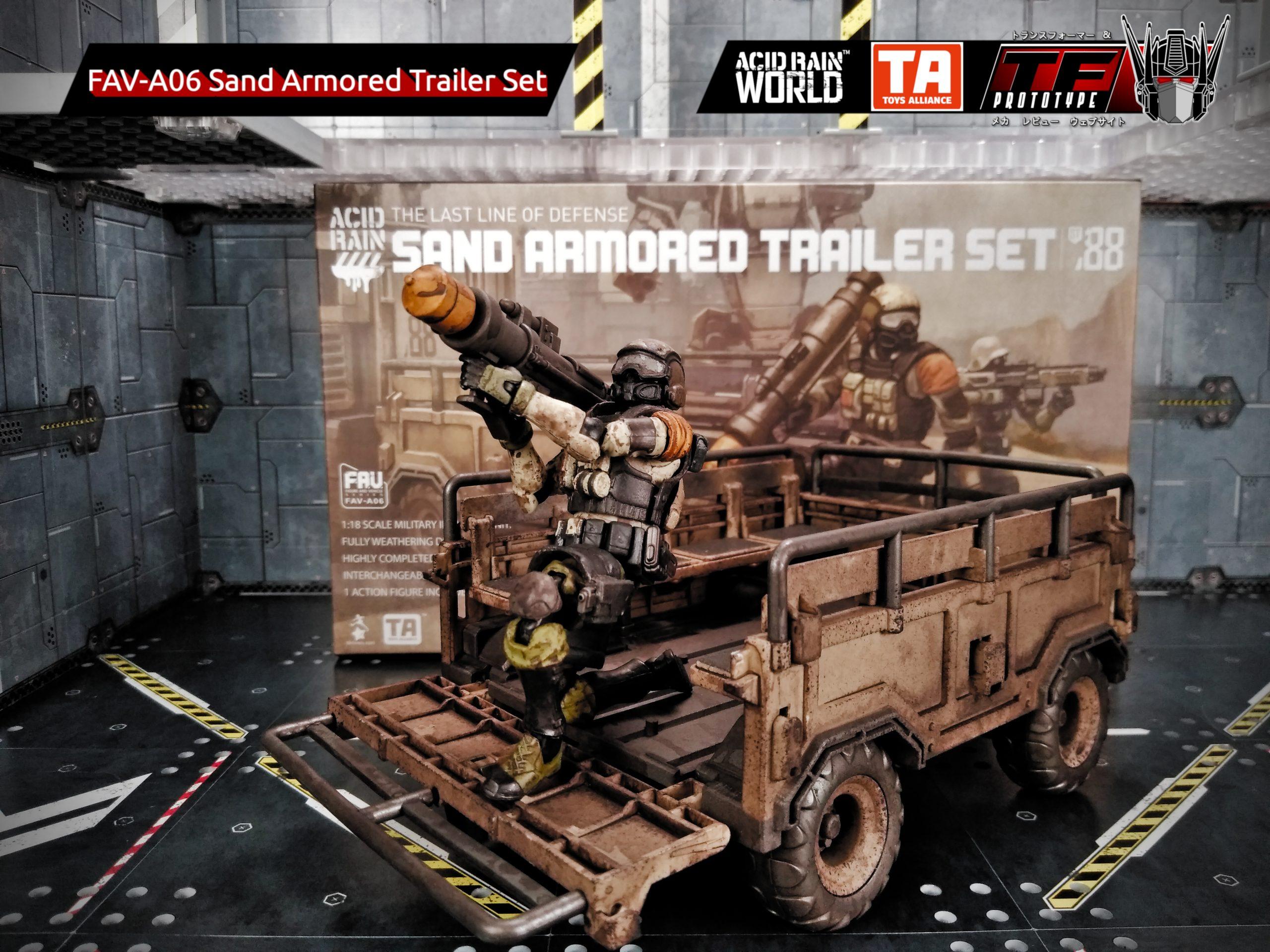 Acid Rain World Toys Alliance FAV-A06 Sand Armored Trailer figure Set ST88 /_US