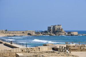 Живописный порт в Средиземном море
