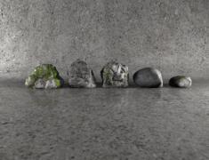 Stone set - 3d model - .obj, .mb, .fbx on Granite Models  id=95669