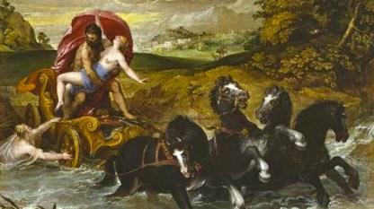 Hades taking Persephone