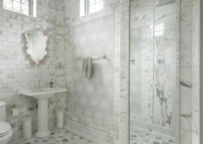 private master bath with ceramic