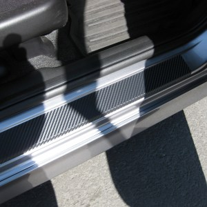 Carbon Fiber Door Sill Overlays – 2007-2008 Honda Fit GD3
