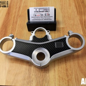 Carbon Fiber Triple Clamp Decal 2002-2009 Honda VFR800 VFR 800