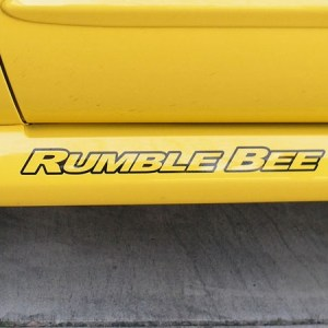 Rumble Bee Decals – fits Dodge RumbleBee 18 Inch Logo Decals