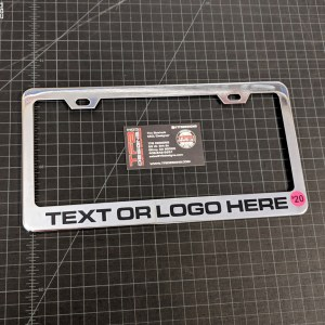 Custom Chrome License Plate Frame – Choice of Lettering