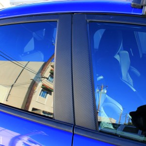 3M Carbon Fiber Door Pillar Decals 2013-2018 Ford Fiesta ST