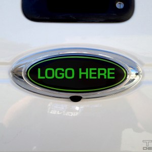 Emblem Decal – Rear Only – fits Ford Trucks – Logo of Your Choice