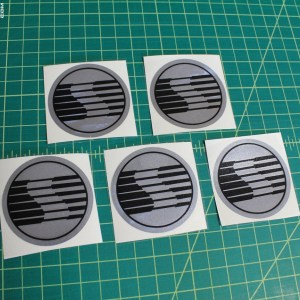 Wheel Center Cap Decals – NEWER Style – fits 2005-2009 Ford Mustang Saleen