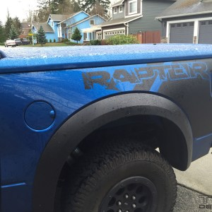 Rear Bed Graphics for Ford Raptor fits 2010 – 2014 Ford Raptor