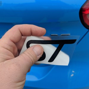 Color Changing Emblem Decals – fits ST Badges on Ford Fiesta ST