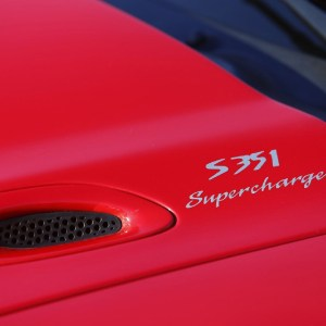 S351 Supercharged Hood Decals fits 1994-1998 Ford Mustang Saleen SN-95