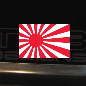 Japan Rising Sun Decal – Several Sizes – JDM Decal Vinyl Sticker