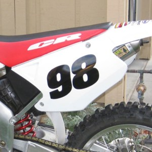 Modern Number Decal – Many Sizes / Colors Dirt Bike, BMX Racing