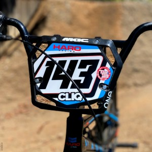 Custom BMX Number Plate Background for MAC One Pro Number Plate