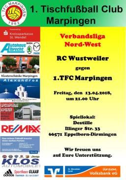 Verbandsliga Nord-West: RC Wustweiler - 1.TFC Marpingen @ Destille | Illingen | Saarland | Deutschland
