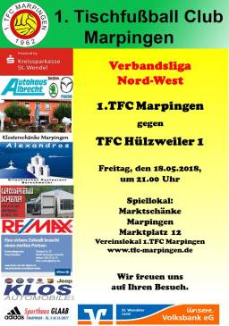 Verbandsliga Nord-West: 1.TFC Marpingen - TFC Hülzweiler @ Vereinslokal Marktschänke | Marpingen | Saarland | Deutschland