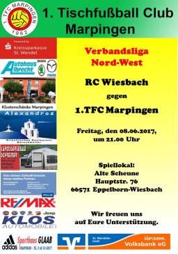 Verbandsliga Nord-West: RC Wiesbach - 1.TFC Marpingen @ Alte Scheune   Eppelborn   Saarland   Deutschland