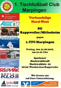 Verbandsliga Nord-West: SG Rappweiler/Mitlosheim - 1.TFC Marpingen @ Hochwaldtreff | Pirmasens | Rheinland-Pfalz | Deutschland