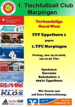 Verbandsliga Nord-West: TFF Eppelborn 1 - 1.TFC Marpingen @ Sorrento   Eppelborn   Saarland   Deutschland