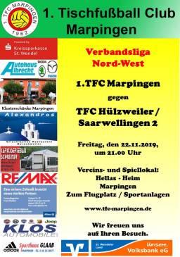 VL NW: 1.TFC Marpingen - TFC Hülzweiler/Saarwelligen 2 @ Hellas-Heim
