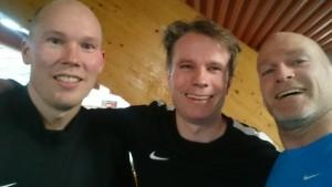 Kim Rune Borgersen, Mads Hagerup-Lyngvær og Helge Myklebust.