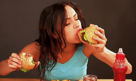 woman burger