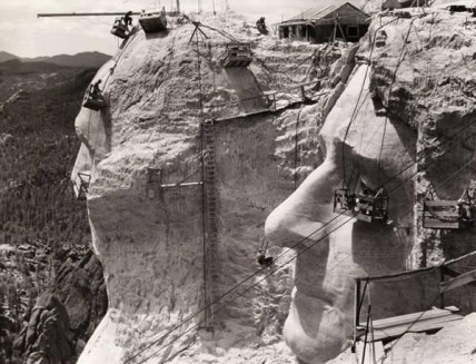 The Carving of Mt. Rushmore