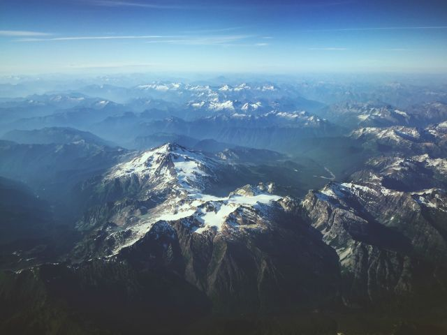 Toronto to Seattle, shot somewhere over Washington State. Taken with my cellphone out the window.